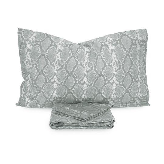Parure Copripiumino Clizia di Laura Biagiotti Percalle Matrimoniale grigio