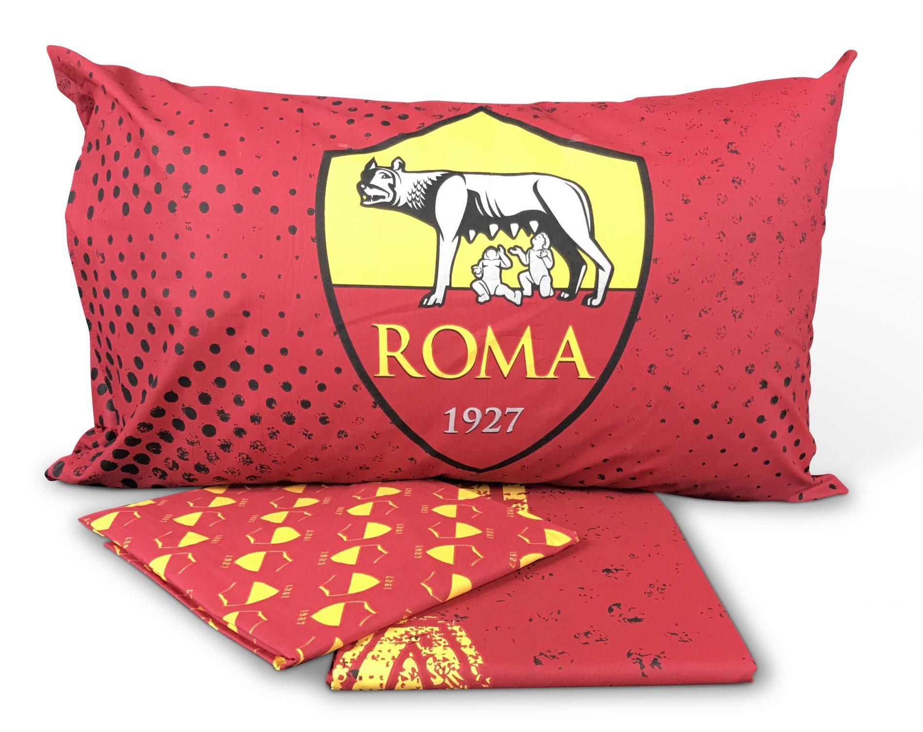 Completo letto lenzuola as roma ufficiale letto singolo 1 for Letto logo