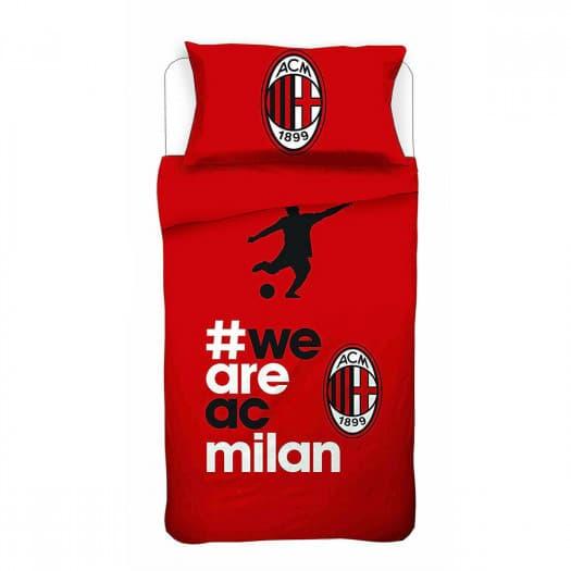 Copripiumino Milan Singolo.Parure Copripiumino Ac Milan Ufficiale Letto Singolo 1 Piazza