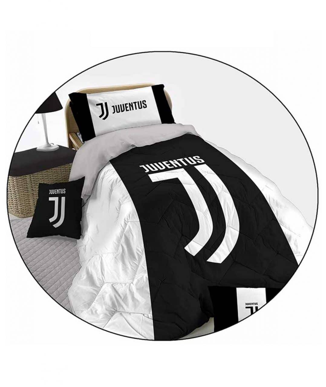 Copripiumino Matrimoniale Juventus.Trapunta Piumone Microfribra Fc Juventus Ufficiale Letto Singolo 1