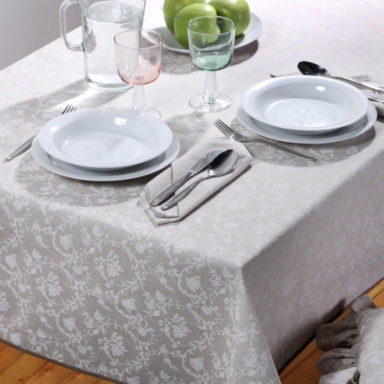 Tovaglia da tavola umbria made in italy disegno art dec - Tovaglie da tavola plastificate ...