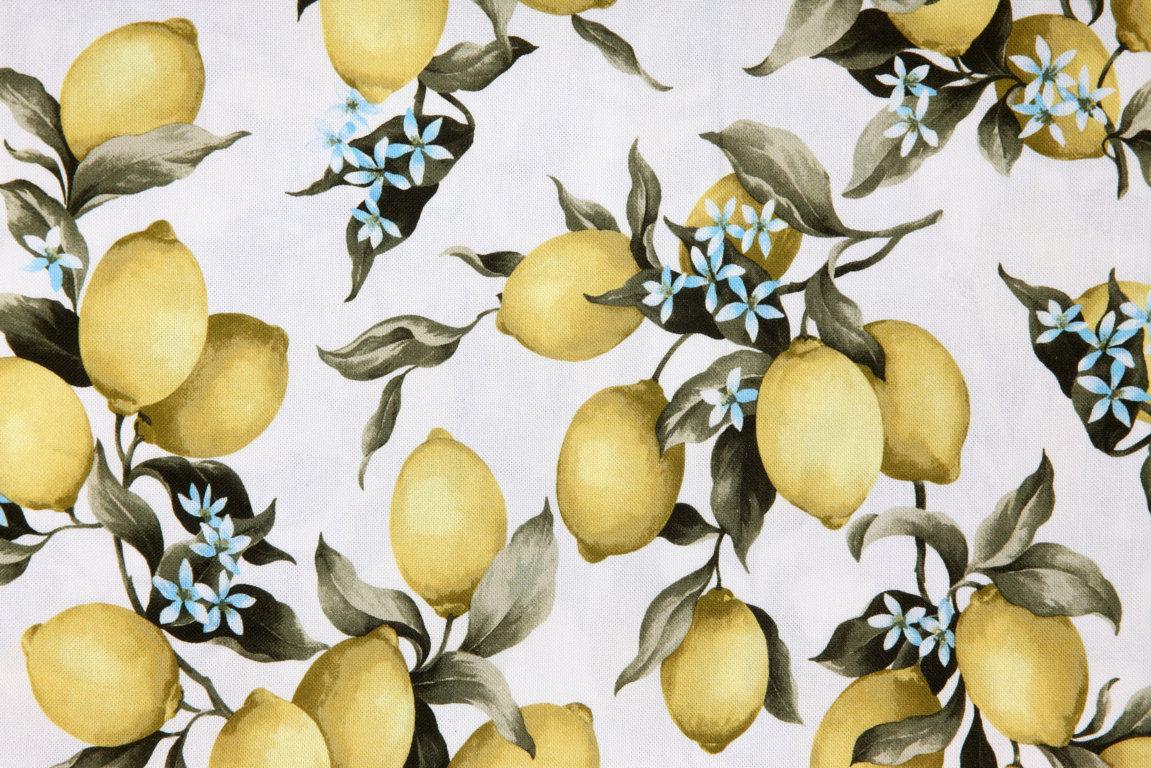 Limoni Disegno: Tovaglia Da Tavola Armonia Made In Italy Disegno Limoni